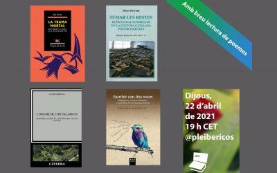 Ninth Pleibéricos event (22 April 2021, 7 pm CET)